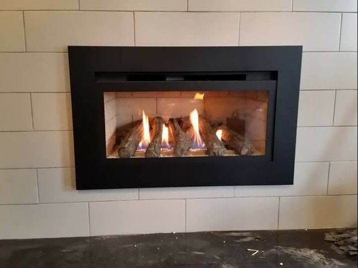 Client photo of his gas fireplace