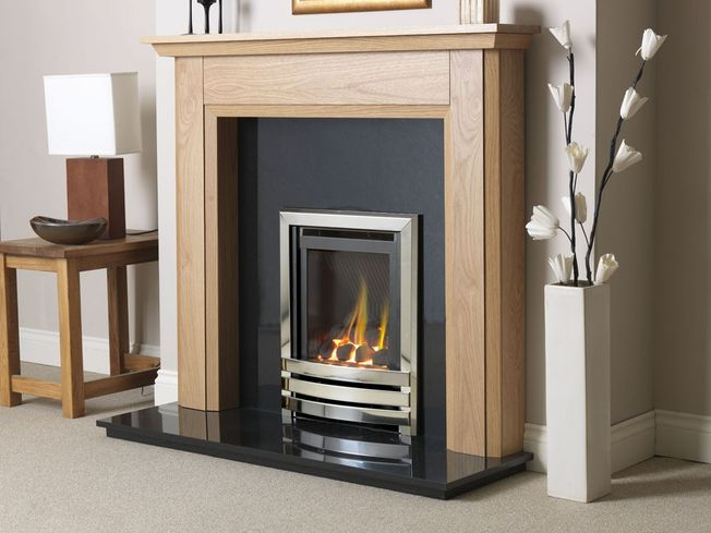 FLAVEL LINEAR HIGH EFFICIENCY GLASS-FRONTED DEEPLINE GAS FIRE