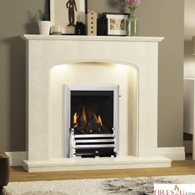 DEEPLINE-RADIANT CLASSIC GAS FIRE (CHROME FINISH + AXTON CHROME FRET)
