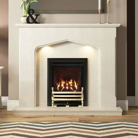 DEEPLINE-RADIANT CLASSIC GAS FIRE (BLACK FINISH + AXTON CHROME FRET)