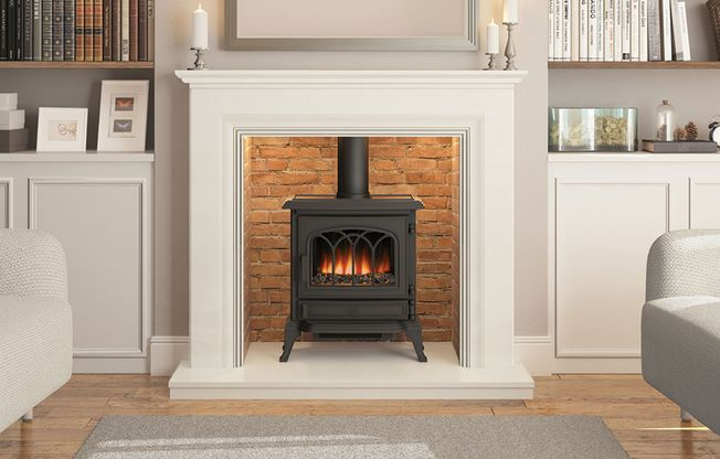 BROSELEY 'CANTERBURY' ELECTRIC STOVE (1-2 kW)