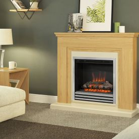 "BE MODERN STANTON 46"" ELECTRIC FLAT-TO-THE-WALL FIREPLACE SUITE"