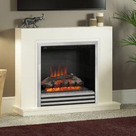 "BE MODERN COLBY 38"" ELECTRIC FLAT-TO-THE-WALL FIREPLACE SUITE"