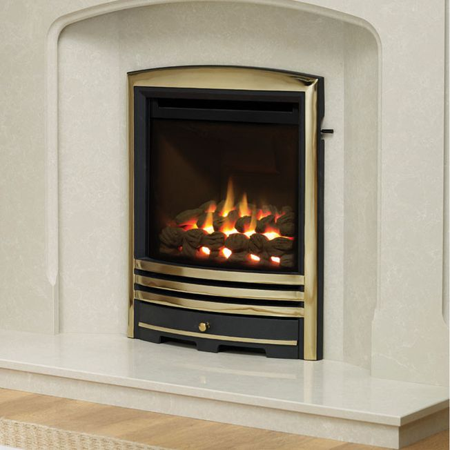 DEEPLINE CONVECTOR CAST FASCIA GAS FIRE (BRASS FINISH)