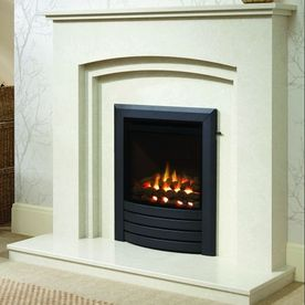 SLIMLINE-RADIANT DESIGN FASCIA GAS FIRE (BLACK FINISH)