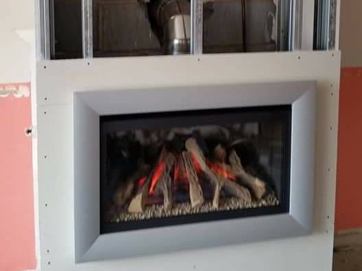 Client photo of his electric fireplace