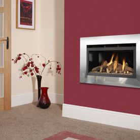 FLAVEL JAZZ HE GLASS-FRONTED HOLE-IN-THE-WALL GAS FIRE