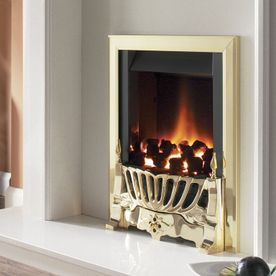 FLAVEL WARWICK SLIMLINE INSET OPEN-FRONTED GAS FIRE