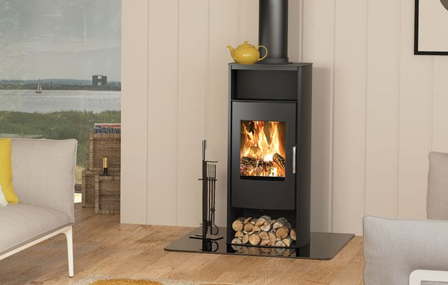 BROSELEY 'PHOENIX' WOODBURNING STOVE - 8KW