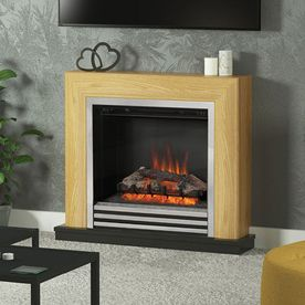 "BE MODERN DEVONSHIRE 34"" ELECTRIC FLAT-TO-THE-WALL FIREPLACE SUITE"