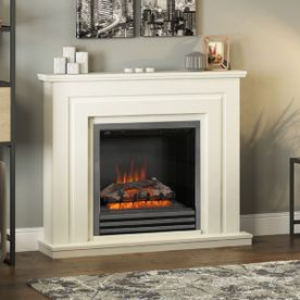 "BE MODERN WHITHAM 48"" ELECTRIC FLAT-TO-THE-WALL FIREPLACE SUITE"