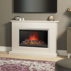 "BE MODERN HANSFORD 46"" ELECTRIC FLAT-TO-THE-WALL FIREPLACE SUITE"