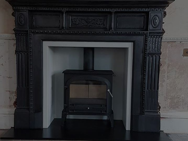 Client photo of his stove fireplace