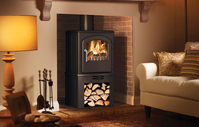 BROSELEY 'SERRANO SE' LOG STORE MULTIFUEL STOVE