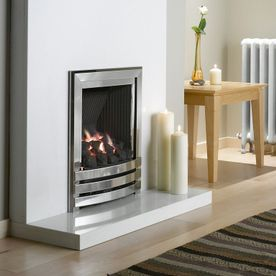 FLAVEL LINEAR OPEN-FRONTED DEEPLINE GAS FIRE