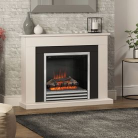 "BE MODERN PRESTON 46"" ELECTRIC FLAT-TO-THE-WALL FIREPLACE SUITE"