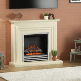 "BE MODERN CARINA 44"" ELECTRIC FLAT-TO-THE-WALL FIREPLACE SUITE"