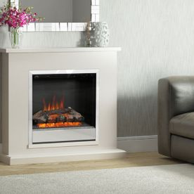 "BE MODERN ELSHAM 40"" ELECTRIC FLAT-TO-THE-WALL FIREPLACE SUITE"