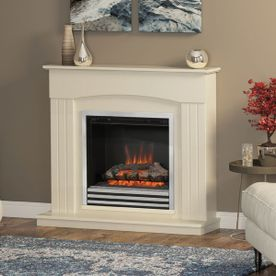 "BE MODERN LINMERE 44"" ELECTRIC FLAT-TO-THE-WALL FIREPLACE SUITE"